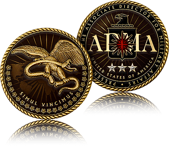 A challenge coin is the physical expression of appreciation, camaraderie, and accomplishment.