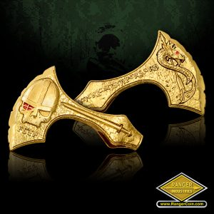 SC-0676-shiny Brass Viking Axe Pendant