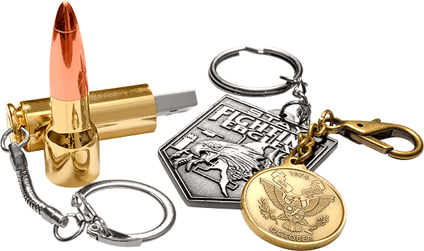 Nearly any challenge coin can become a key chain