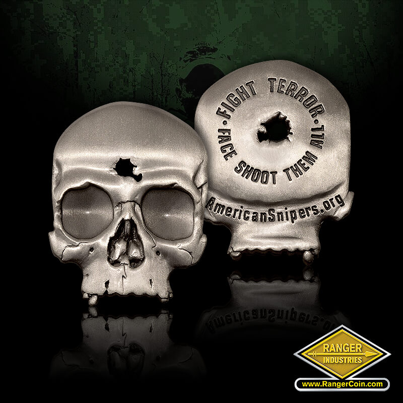 American Snipers Skull Coin