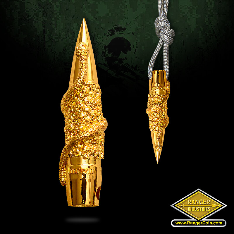 Rattlesnake Bullet Pendant