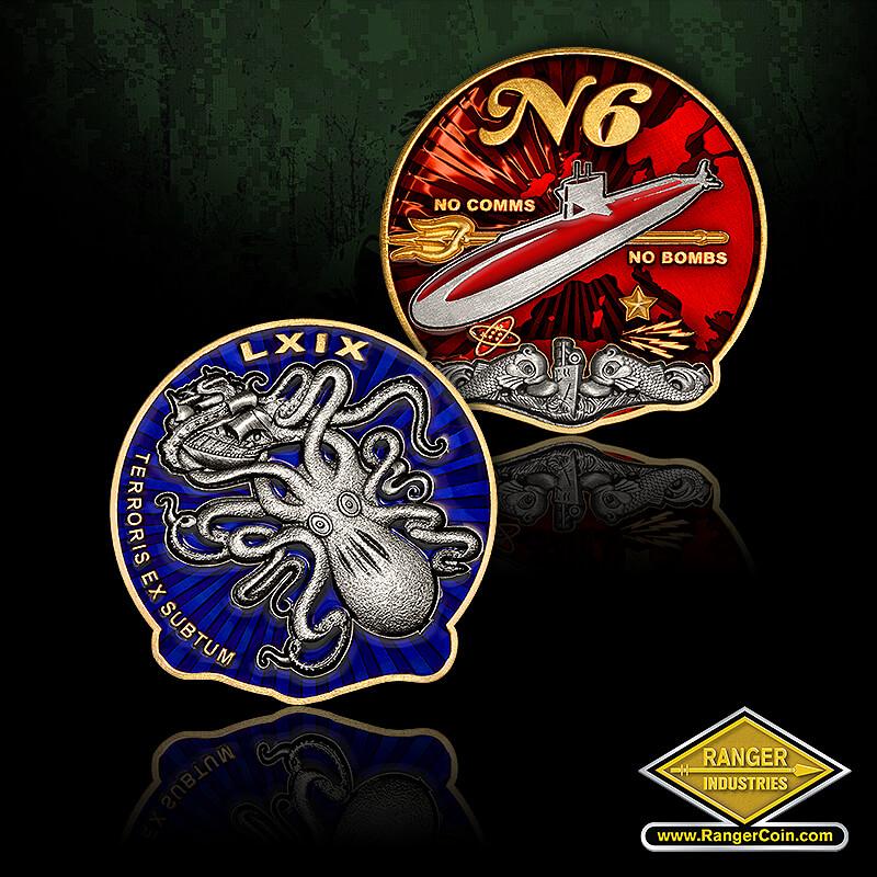 N6 Submarine - LXIX, terroris ex subtum, kraken, squid, sea monster, n6, submarine, no comms, no bombs, atom