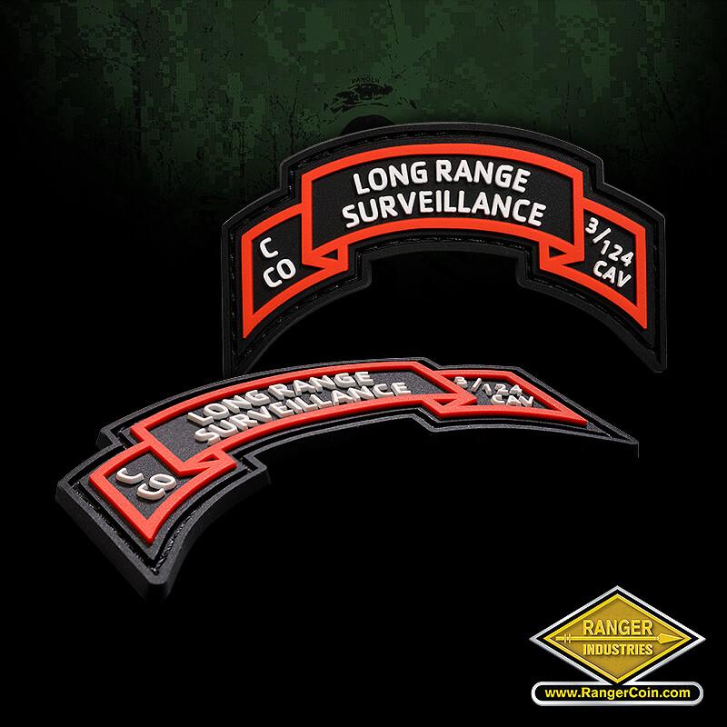 Long Range Surveillance PVC Patch - Long Range Surveillance, C CO, 3/124 CAV
