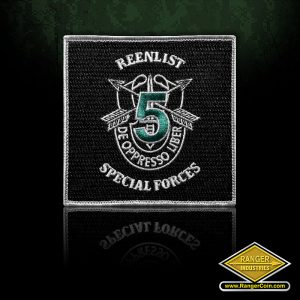 SC-0137 5th Special Forces Reenlist Patch