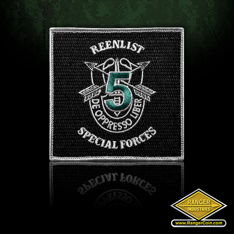 5th Special Forces Reenlist Patch