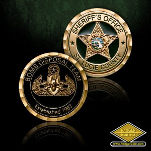SC-0262 St. Lucie County Sheriff's Office Bomb Disposal Team Coin