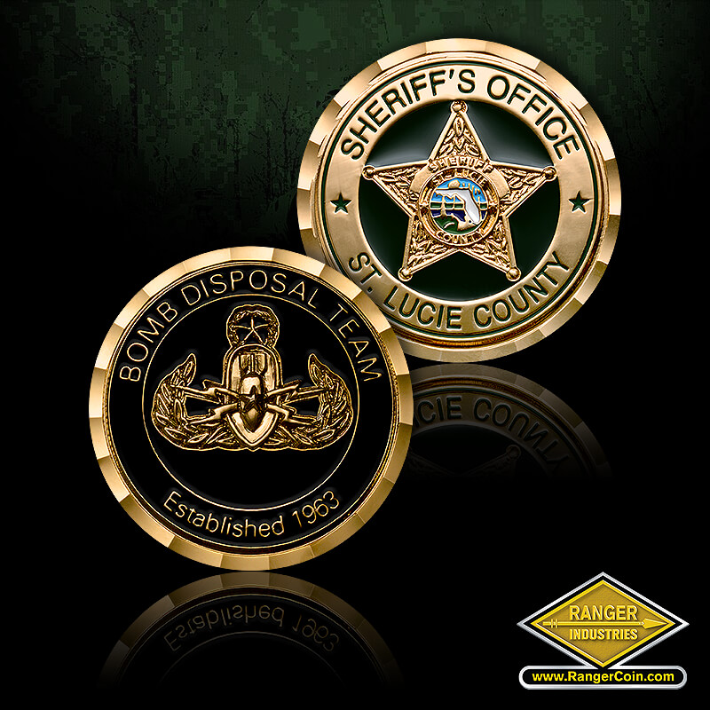 St. Lucie County Sheriff's Office Bomb Disposal Team Coin