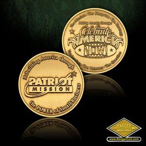 SC-0722 Patriot Mission round coin