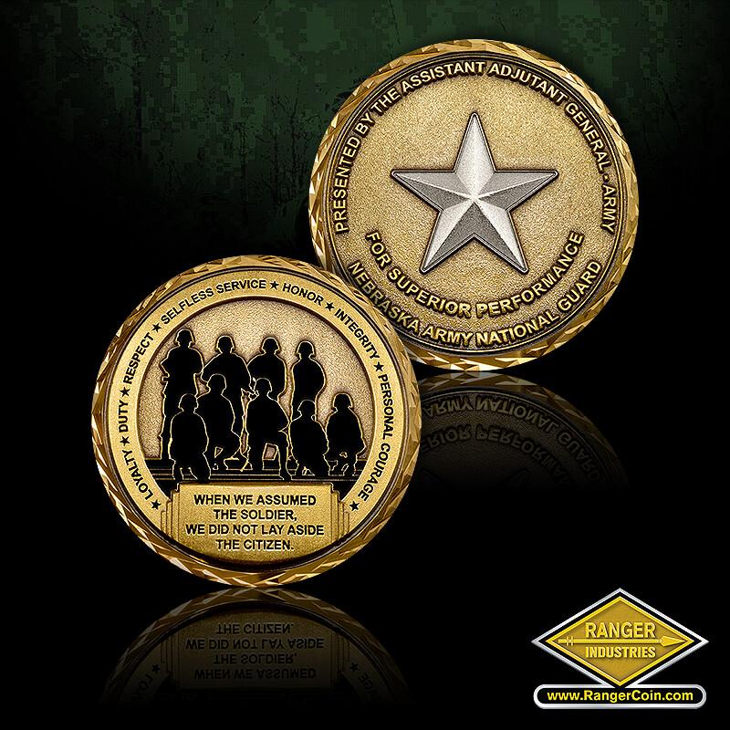 Nebraska ARNG BG Dahlman coin
