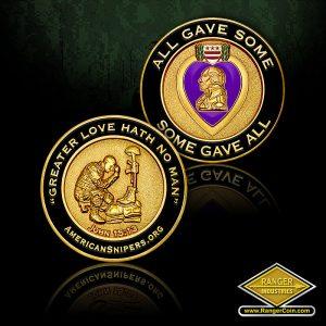 SC-0347 AS Purple Heart coin