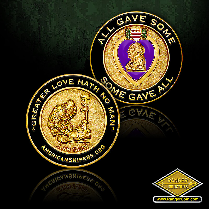 AS Purple Heart coin