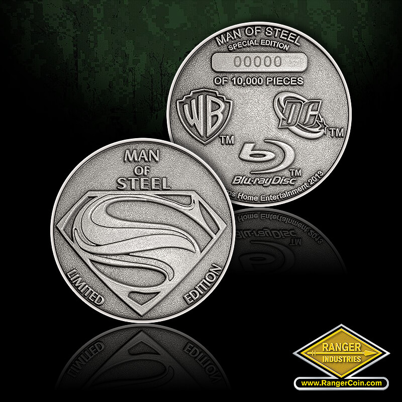 Man of Steel Diamond Metal - Man of steel, limited edition, superman symbol, Man of steel, special edition, of 10,000 pieces, warner bros, dc, blu-ray disc, warner bros home entertainment 2013