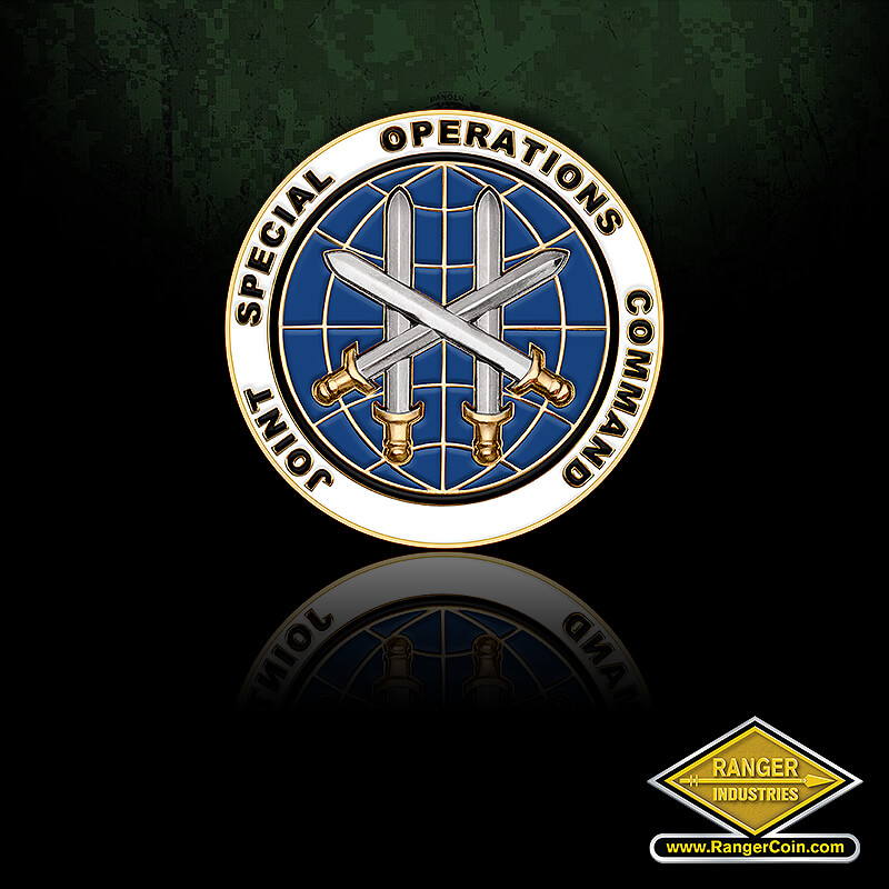 JSOC 2.0″ Die (with adhesive) - Joint Special Operations Command, crossed swords, globe