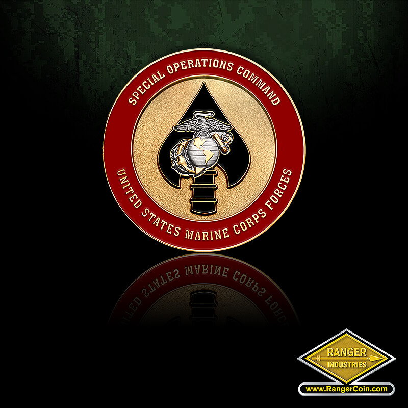 MARSOC 2.0″ Die (with adhesive) - Special operations command, United States Marine Corps forces, ega, spear tip