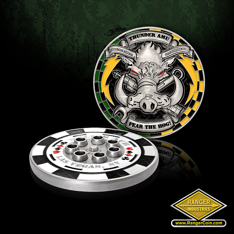 Nellis AFB Thunder AMU - Nellis AFB, Las Vegas, NV, casino, gambling, roulette wheel, cards, 3D, Thunder AMU, warthog, 422D test & eval sq, 66th weapons sq, fear the hog!, wrench, rivet gun