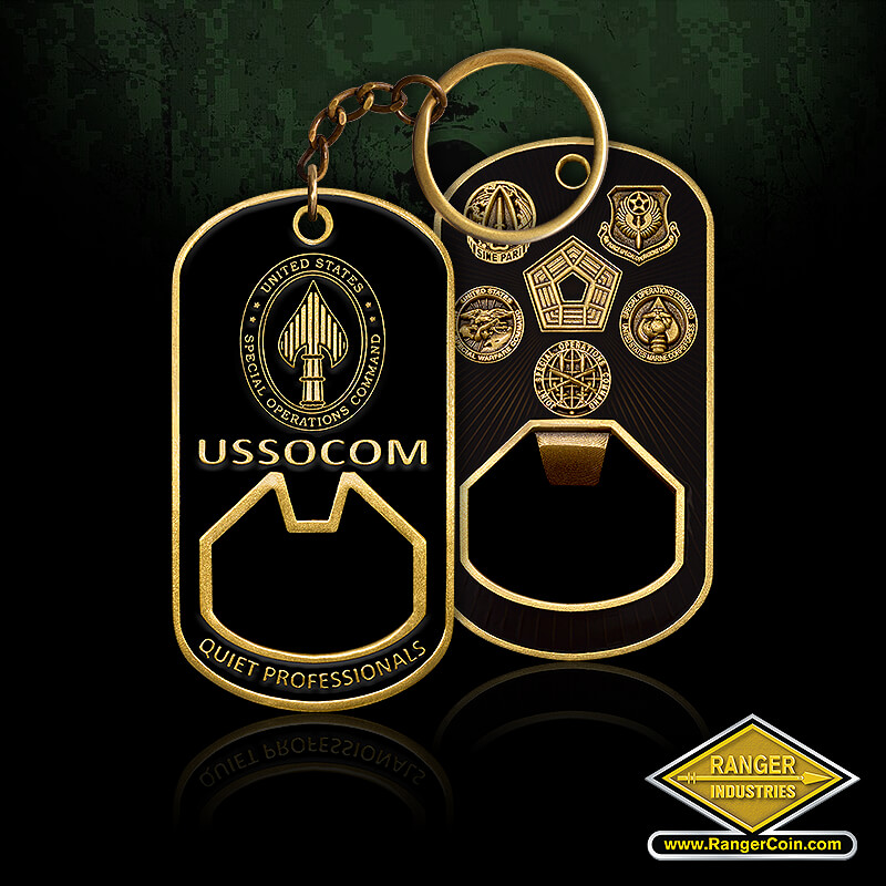 USSOCOM Components bottle opener coin