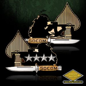SC-0702 USSOCOM Shooter coin with 4 stars