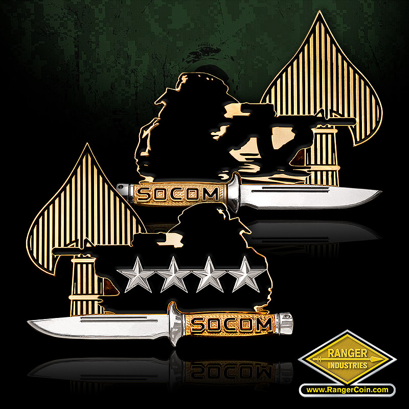 USSOCOM Shooter coin with 4 stars