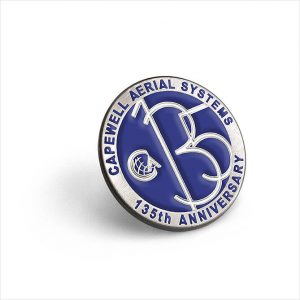 SC-0771 Capewell Aerial 135th Anniversary lapel pin