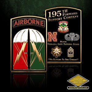 SC-0809 NEARNG 195th FSC Airborne coin