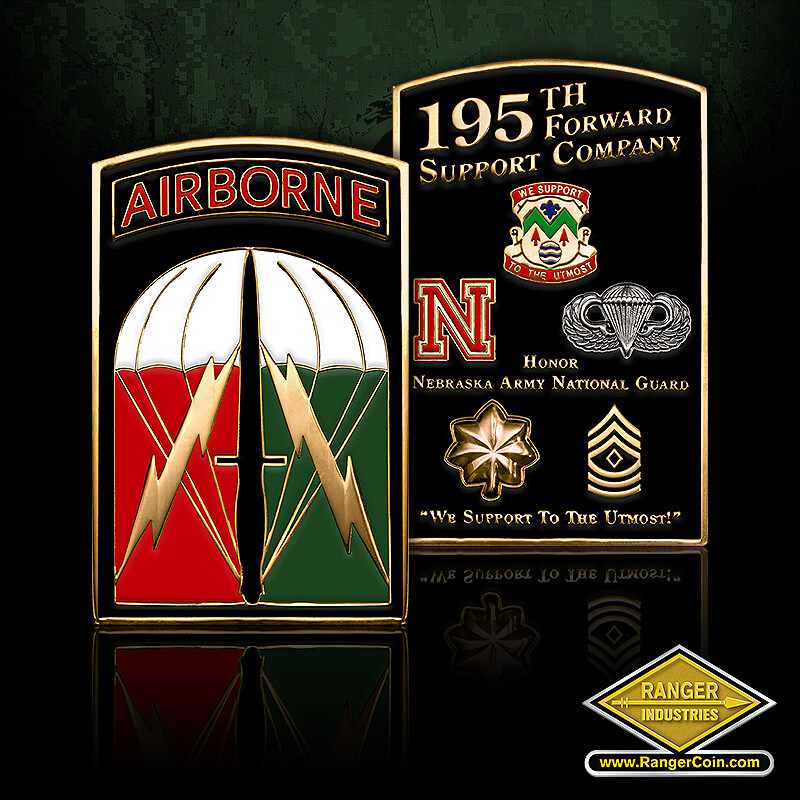 NEARNG 195th FSC Airborne coin
