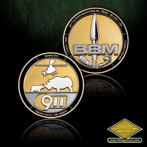 BBM South Africa Rhino - Battle Born Munitions Inc. Reno Nevada USA, no time, everytime, combat proven, BBM, foo pring, foot print, spear tip, Rhino 911, Taking back the night, 911, rhinos, Bell 407GT light attack helo for use in Africa, the Middle East, helicopter