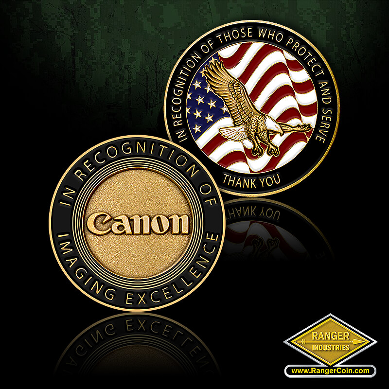 Canon USA Law Enforcement coin