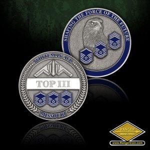 SC-0830 Whiteman AFB Top 3 Organization coin