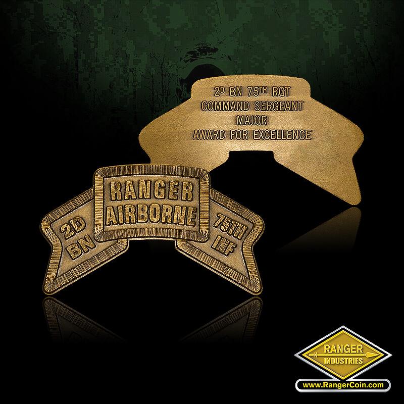 Ranger Airborne Award For Excellence - Ranger Airborne, 2D BN, 75th INF, 2D BN 75th RGT, Commander Sergeant Major Award For Excellence
