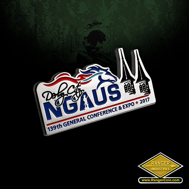 NGAUS 2017 Lapel Pin - Derby City, NGAUS, 139th General Conference & Expo, 2017, horse, Ranger Industries, LLC. www.RangerCoin.com, (775) 461-3725