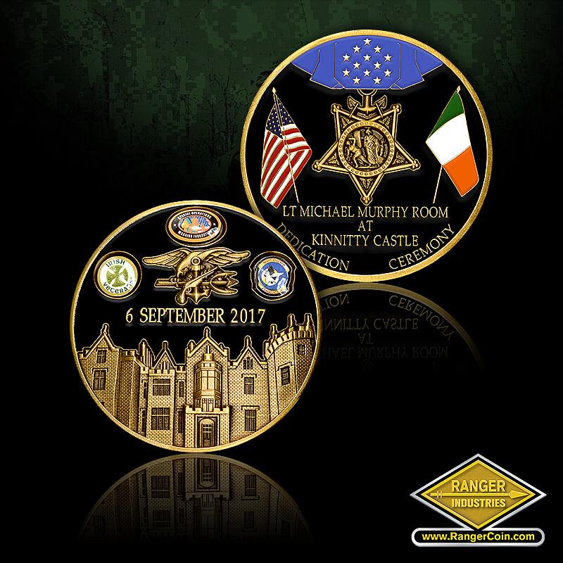 Kinnitty Castle - 6 September 2017, Navy Seals, trident, Kinnitty Castle, Irish Veterans, Special Operations Warrior Foundation, Night Stalker Association, Lt. Michael Murphy Room at Kinnitty Castle, Dedication Ceremony, Navy Medal of Honor, American Flag, Irish Flag, Ireland