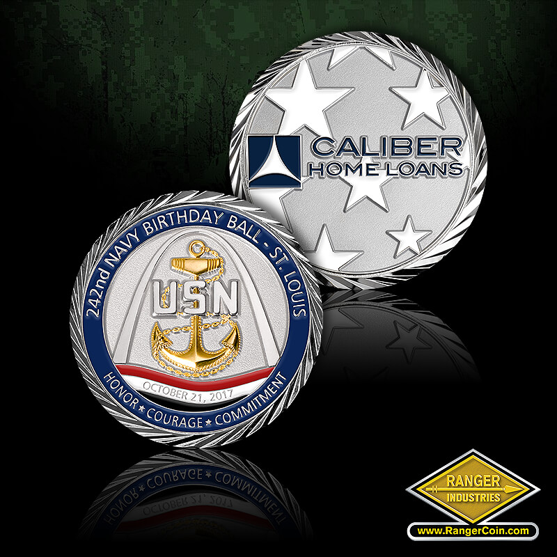 Navy Ball, Caliber Home Loans - 242nd Navy Birthday Ball, St. Louis, USN, Anchor, Gateway to the West, Arch, October 21, 2017, Honor, Courage, Commitment, Caliber Home Loans, stars