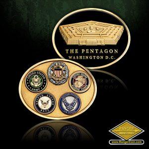 SC-1007 PENTAGON OVAL 5 SEAL COIN