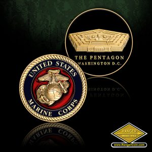 SC-1018 MARINE PENTAGON CIRCLE COIN