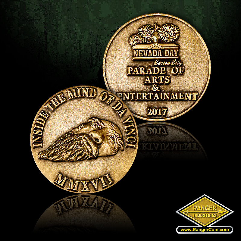 Nevada Day 2017 Coin - Inside the mind of Da Vinci, MMXVII, Nevada Day, Carson City Parade of Arts & Entertainment 2017