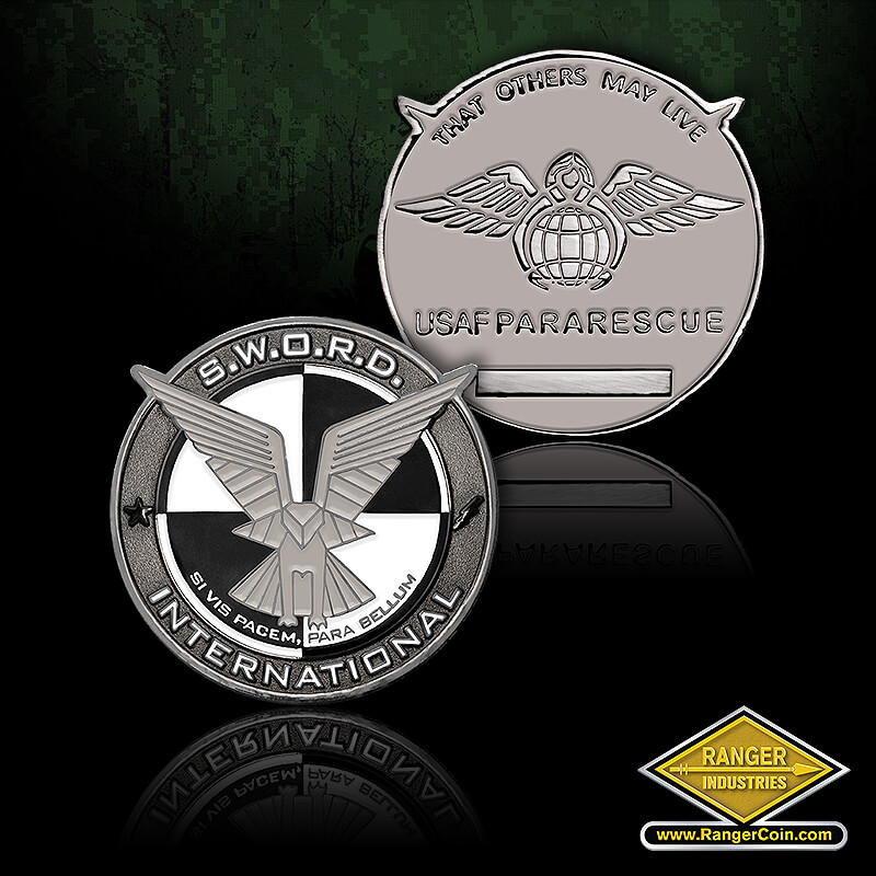SWORD USAF Pararescue - SWORD, International, Si Vis Pacem, Para Bellum, eagle, star, lightning bolt, That Others May Live, USAF Pararescue, engravable