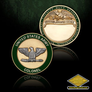 SC-1008 US Army Colonel Engravable Coin