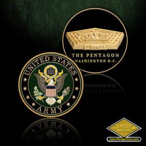 SC-1010 ARMY PENTAGON ROUND COIN