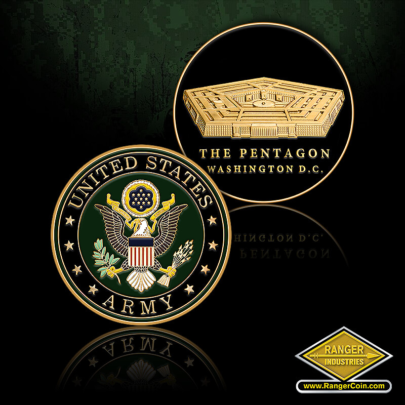 ARMY PENTAGON ROUND COIN