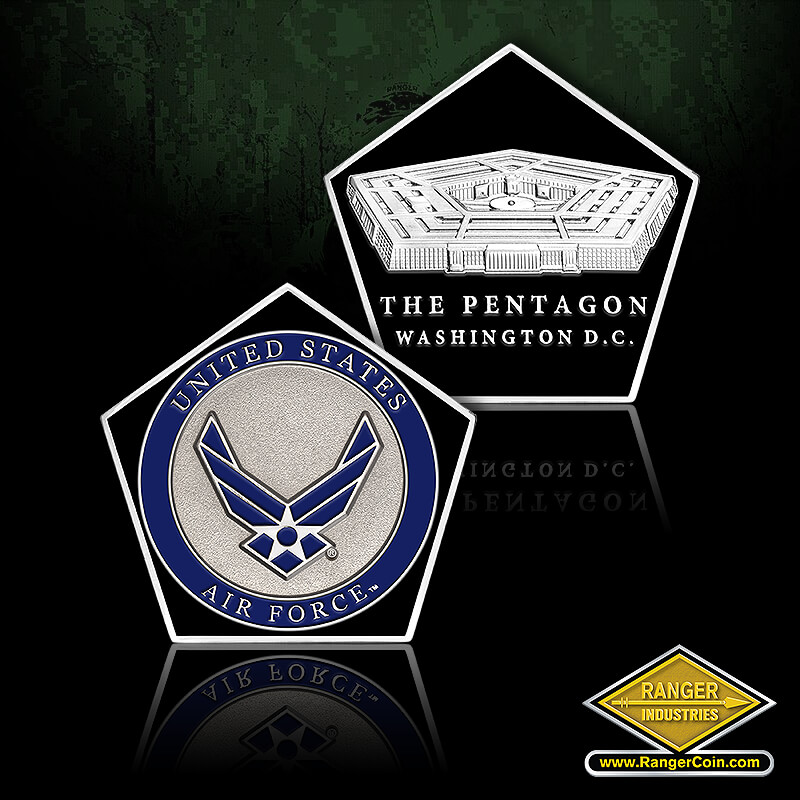 AIR FORCE PENTAGON SHAPED COIN