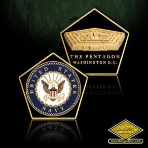 SC-1014 NAVY PENTAGON SHAPED COIN