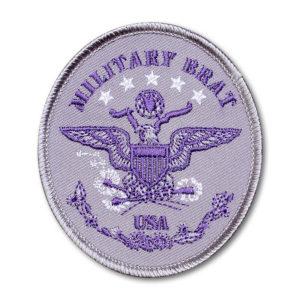 SC-5337 Brat ID – Oval Purple on Silver Twill