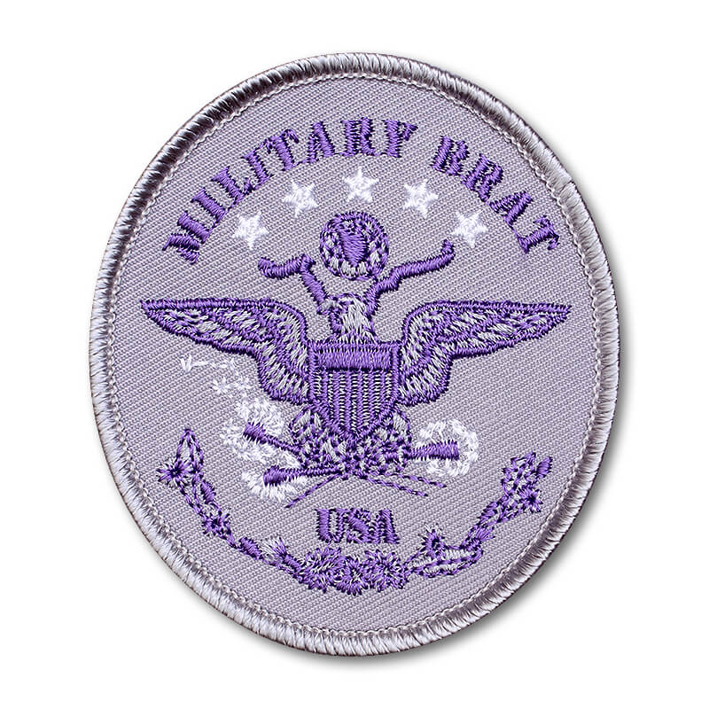 Brat ID – Oval Purple on Silver Twill