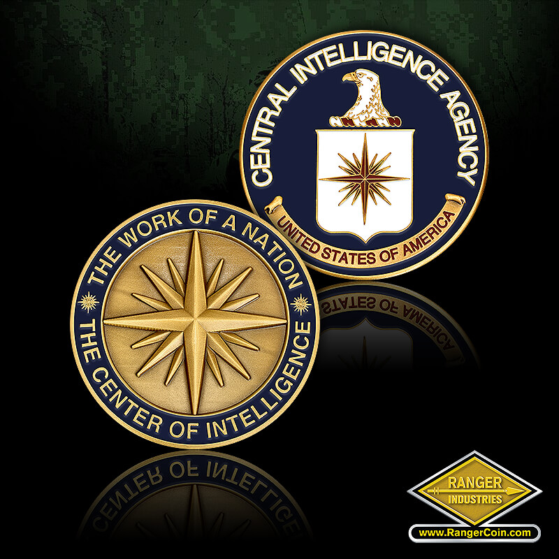 CIA Coin - Central Intelligence Agency, United States of America, CIA, The work of a nation, the center of intelligence
