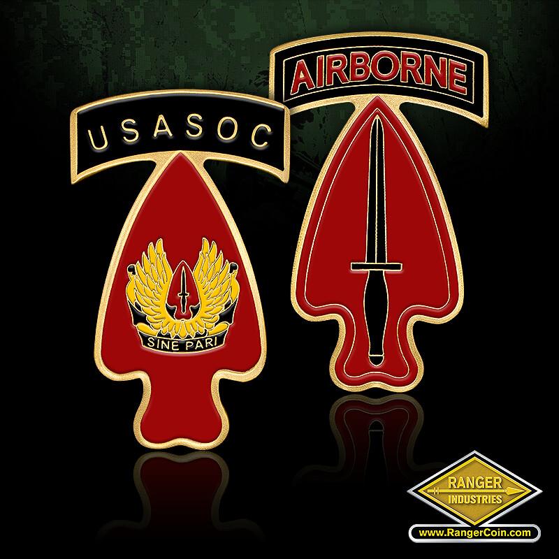 USA Special OPS CMD - Airborne, USASOC, Sine Pari