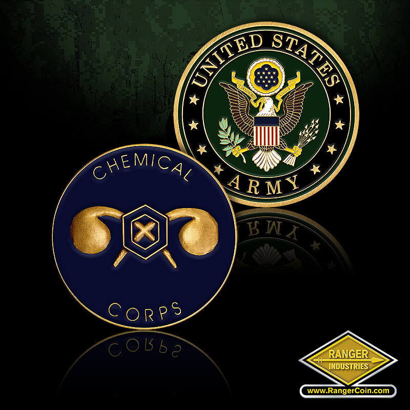 Army Chemical Corps Enamel - Chemical Corps, United States Army