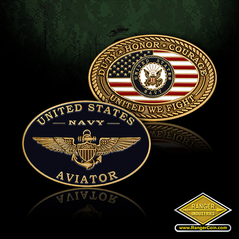 USN / Aviator - United States Navy Aviator, Duty Honor Courage, United We Fight, Untied States Navy, American flag