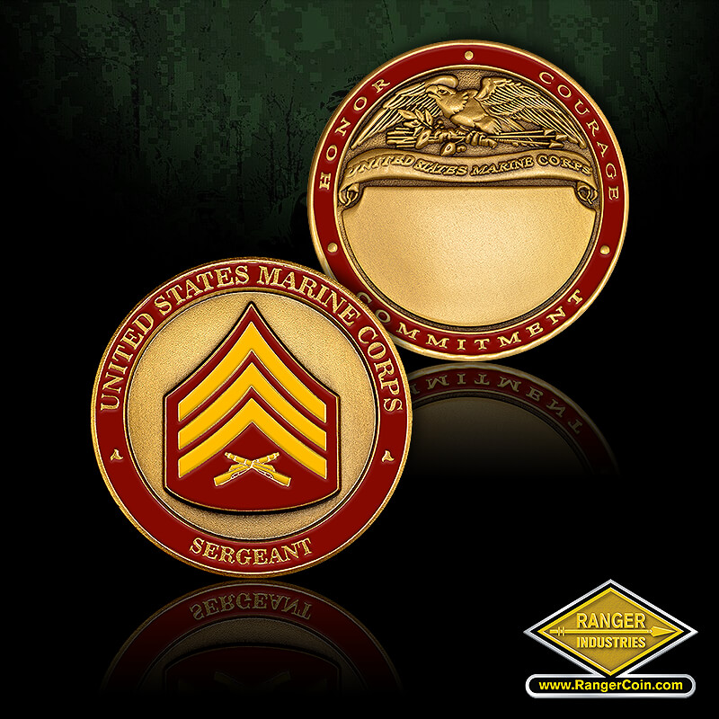 US Marines Sergeant Engravable - United States Marine Corps, Sergeant, Honor, Courage, Commitment, United States Marine Corps, engravable