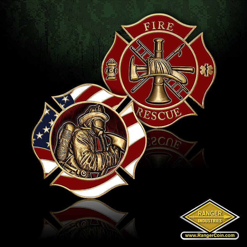 QA 0626 Fires - Firefighter, Maltese Cross, Fire, Rescue