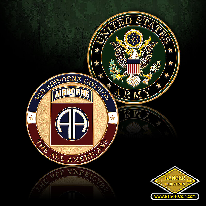 Army Fort Bragg 82nd Airborne Division - 92D Airborne Division, The All Americans, United States Army